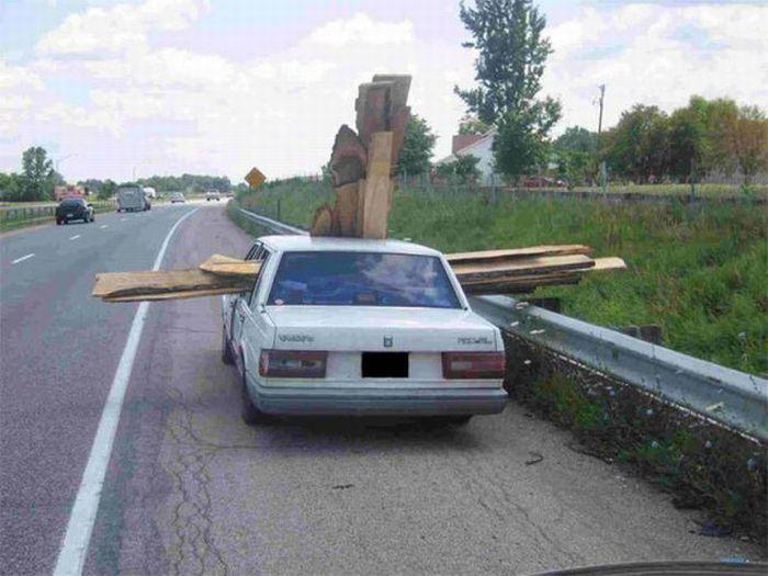 Man Kann Sein Auto Auf Verschiedene Weise Beladen